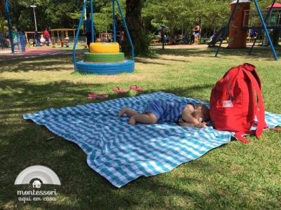 Cochilo no parque
